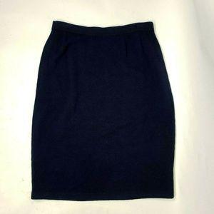 ST JOHN Marie Gray Blue Santana Knit Skirt 10